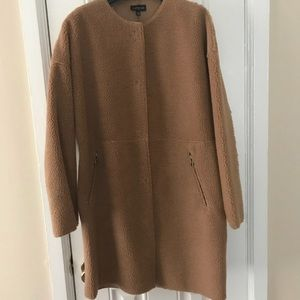 Topshop Faux Fur Camel Coat
